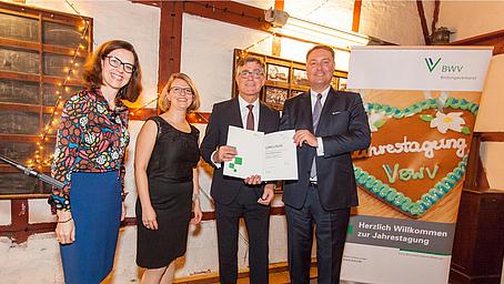 BWV Jahrespreis 2018 an Multiplikatoren Prüferweiterbildung Versicherungsfachmann/-frau verliehen!